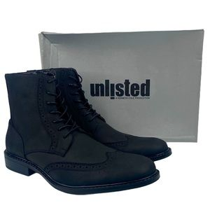 Kenneth Cole Unlisted Lace Up Side Zip Buzzer Boot